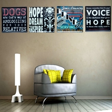 Voice Hope Tin Signs Metal Painting Wall Bar Cofe Home Art Decor Living Room Cuadros  sticker 30X30CM DK-5