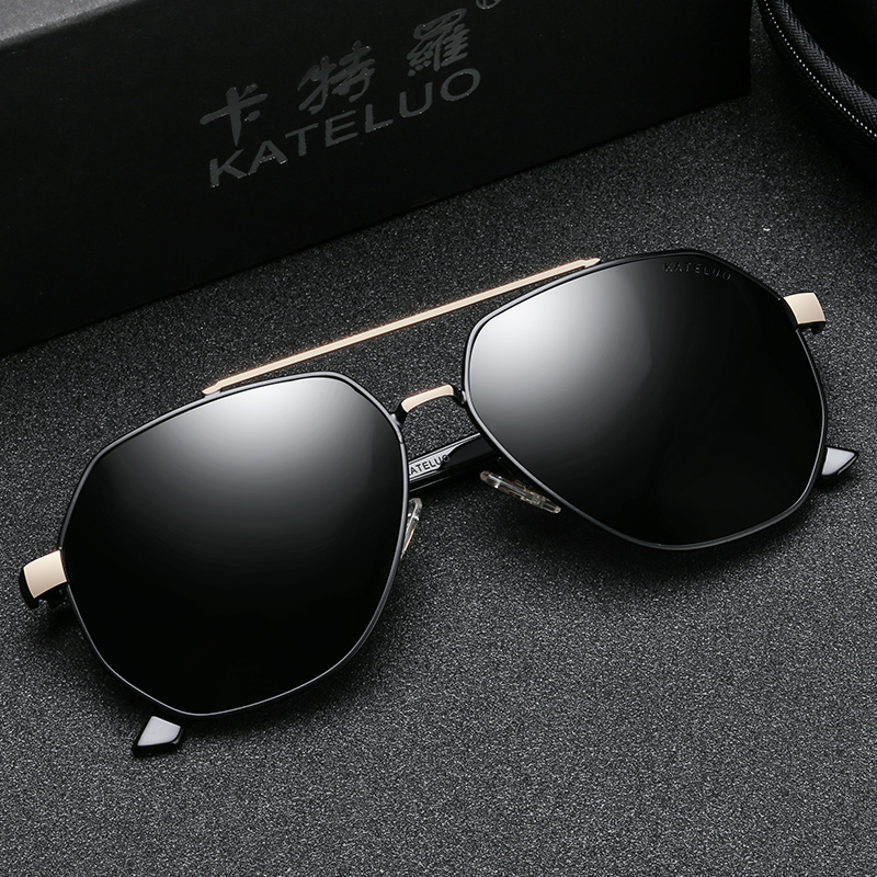 KATELUO Classic Mens Military Quality Sunglasses HD Polarized UV400 Male Sun Glasses For Men Eyewear Accessories 6603