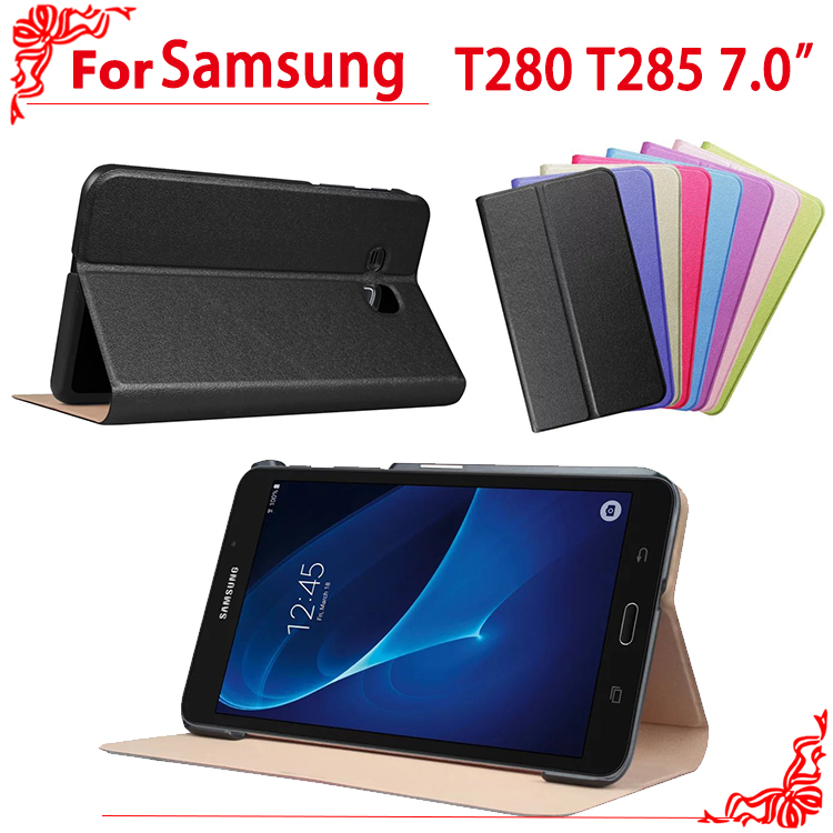 For Samsung Galaxy Tab A 7.0 SM-T280 SM-T285 High Quality PU Leather Flip Cover Case For Samsung T280 T285