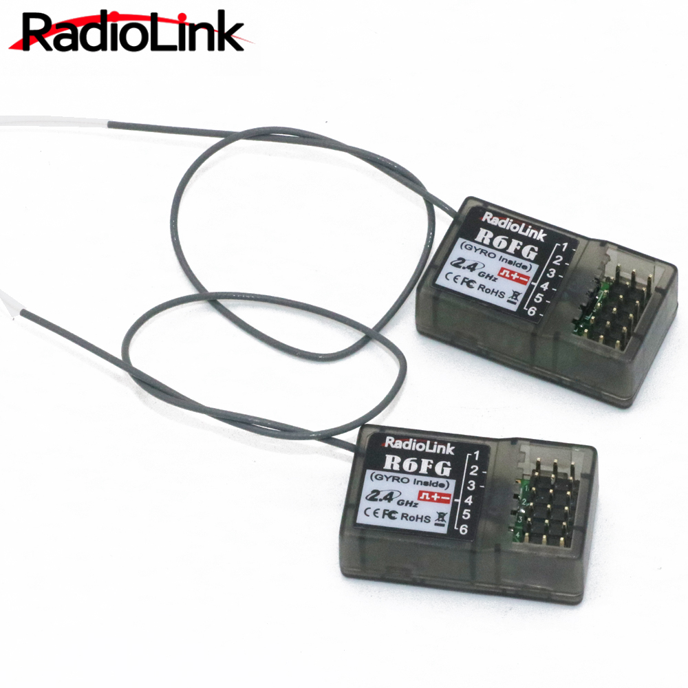 Radiolink R6FG 2.4GHz 6 Channel FHSS Receiver Radio Control System Gyro Integrant For RC4GS RC3S,RC4G T8FB Transmitter(China)