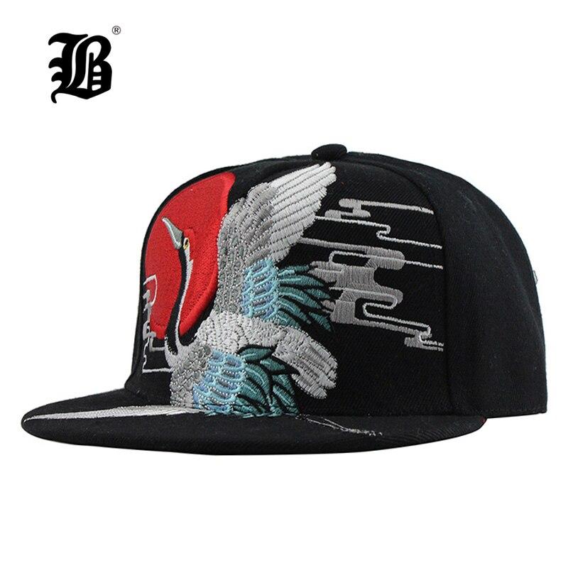 [FLB] Quality Embroidery Hip Hop   Baseball     Cap   For Men Women Crane Snapback Bone   Caps   Spring Summer Autumn Cotton Hats CoupleF135