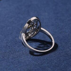 Image 5 - SA SILVERAGE otantik 925 ayar gümüş hayat ağacı şekli nişan alyans 925 gümüş altın renk kaplama yüzük kadın için