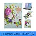 Para Samsung Galaxy Tab A 9.7 caja, Ultra delgado SmartCover funda de cuero para Samsung Galaxy Tab un SM-T550 Tablet