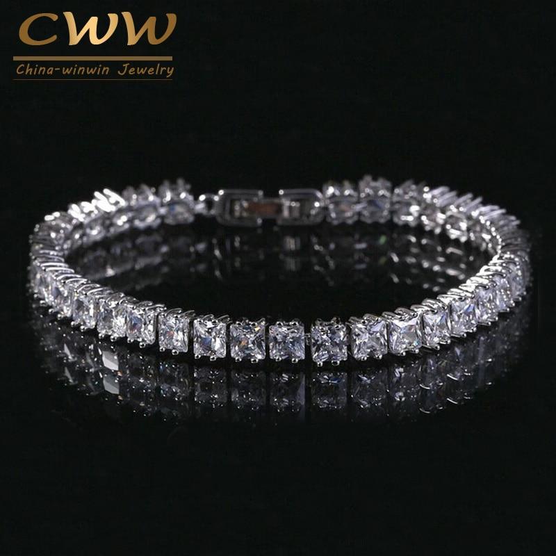 CWWZircons Princess Cut Sparkling Square Cubic Zircon Stoness