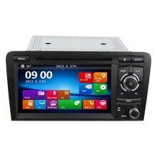 2 Din Coche Reproductor de DVD para Audi A3 S3 2003 2004-2011 Unidad Principal Estéreo con Una Función de GPS Sat Navi Mapa Libre + SD tarjeta + cámara + Canbus