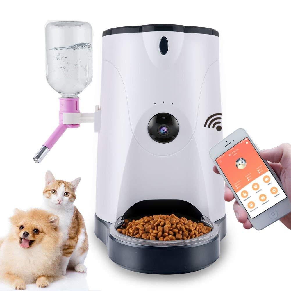 Distributeur d'eau intelligent de nourriture de mangeoire automatique d'animal familier avec la caméra de HD et la Surveillance à distance vidéo pour des chats de chiens