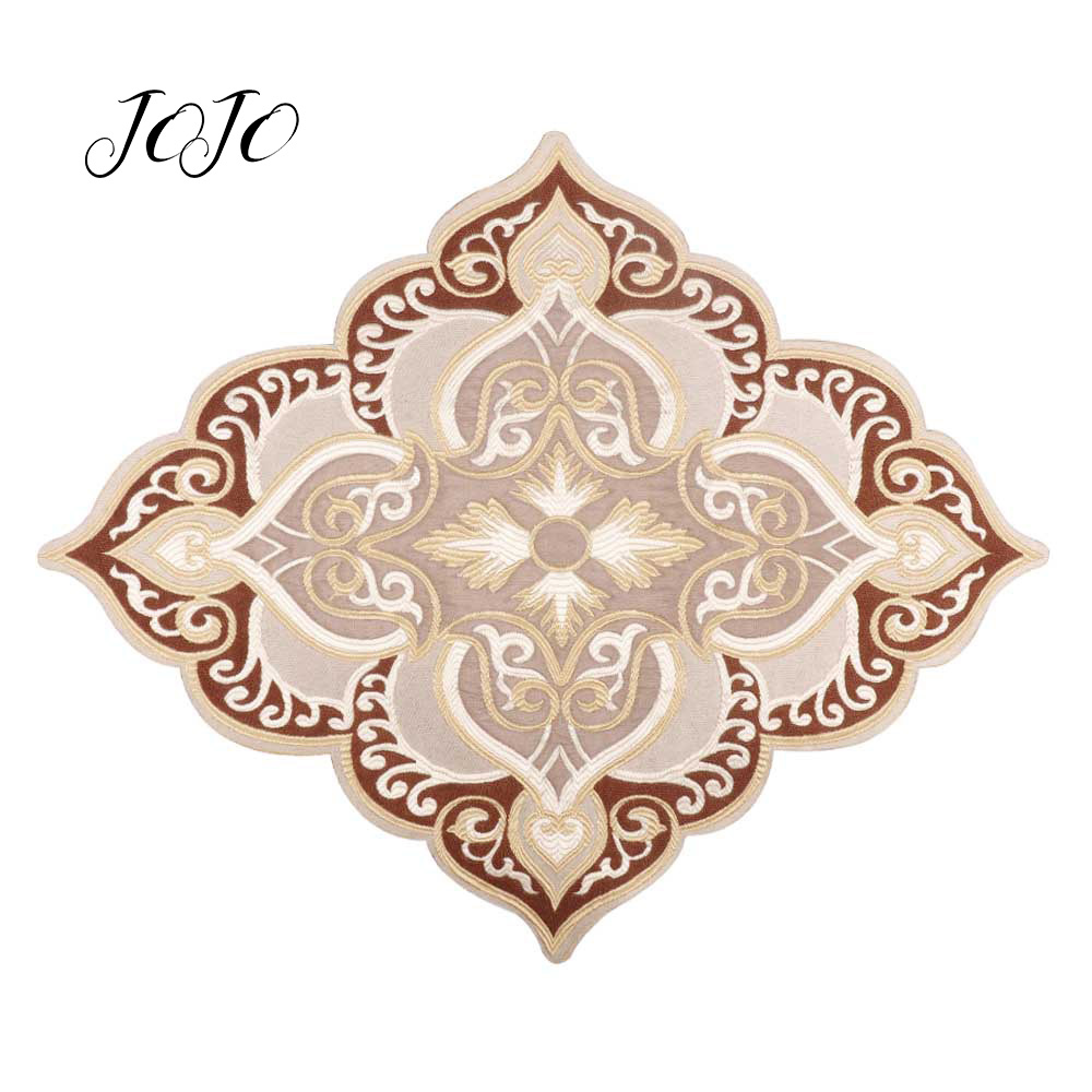 JOJO BOWS 1pc Cloth Embroidery Patches Diamond Cloth Sticker Accessory For Needlework DIY Handmade Sewing Material Home Textile in Patches from Home Garden