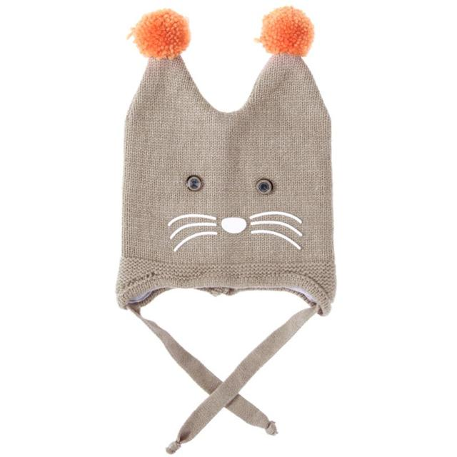 b3c903b83 Children Thicken Double Hair Ball Cartoon Cap Baby Boys Girls Winter Warm  Hat for 0 3T-in Hats & Caps from Mother & Kids on Aliexpress.com | Alibaba  ...