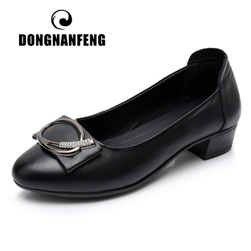 DONGNANFENG/Женская обувь для мамы; Женская обувь из натуральной кожи на плоской подошве; Лоферы без застежки; Мягкие шикарные мокасины; Большие р...