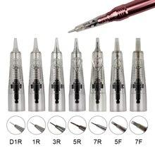 Professional 10PCS Disposable Permanent Makeup Tattoo Needle Cartridge For Permanent Makeup Machine Eyebrow Tattoo Lip