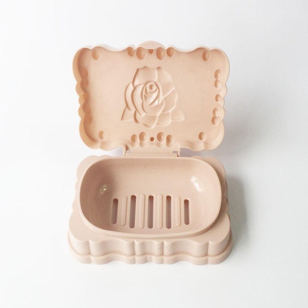 Elegant Bathroom Rose: Elegant Useful Rose Shaped Soap Box Dish Holder Bathroom