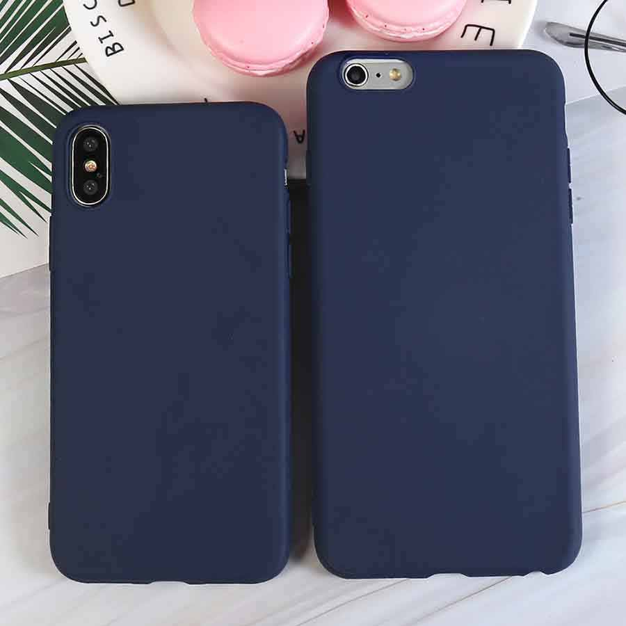 Luxus Dark Blau Silikon Telefon Fall Für iPhone X XR XS Max 5 5S SE 6 6S 7 8 Plus 11 Pro Max 2019 Abdeckung Coque Fundas