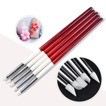 hot deal buy 5pcs/pack wood handle painting drawing brush pen nail art dotting tool builder uv gel manicure diy nail art tools