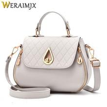 hot deal buy weraimjx flap cheap women's handbags fashion bags for women 2018 cover solid shoulder bags bolsa feminina crossbody bags mj231