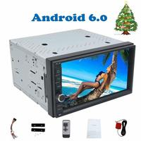 Double din Quad core 7'' 2 din Android 6.0 car radio autoradio radio car auto No DVD player in dash Built in 3D offline GPS Map