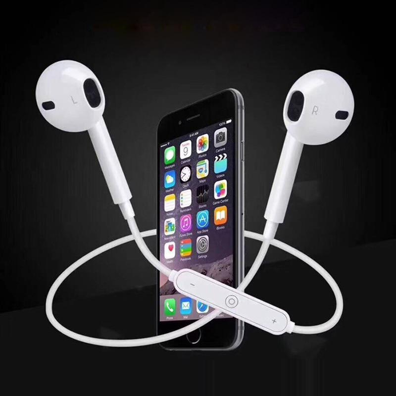 S6 Sport Neckband Wireless Headphone Bluetooth Earphone Headphone For Phone with Mic Earphone For iPhone Xiaomi Huawei