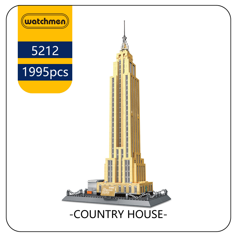 WANGE 5212 Building Blocks World Famous Architecture Series Empire State building of NewYork Funny Toys also for Children