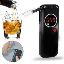Цифровой тестер на алкоголь Алкотестер профессиональный детектор содержания алкоголя для водителя