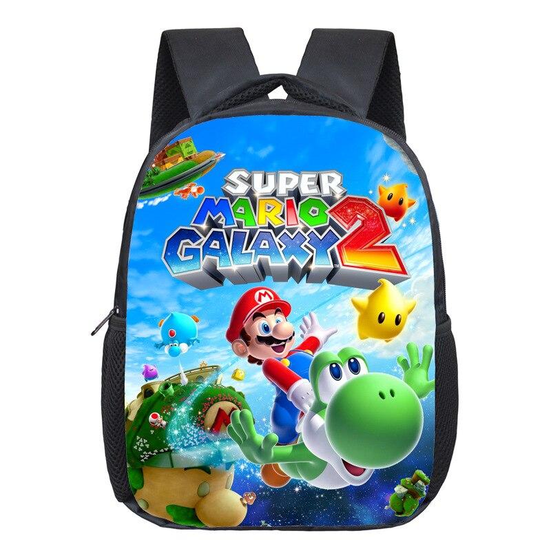 2019 Cartoon Mario/Sonic Print Backpack Children School Bags Toddler Backpack Kids Kindergarten Bag Children Book Bag Best Gift