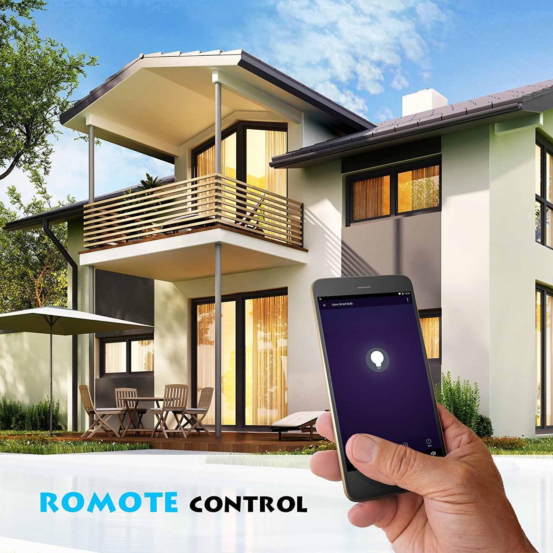 Gran oferta bombilla LED ISB600 Smart WiFi, multicolor, regulable, sin repetidores, aplicación gratuita de control remoto, compatible con Amazon Alexa