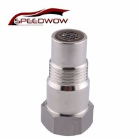 1 stainless steel SPEEDWOW M18*1.5 Stainless Steel Remove Fault Connector Down Stream Catalytic Joint Auto Car O2 Oxygen Sensor Extension Spacer (1)