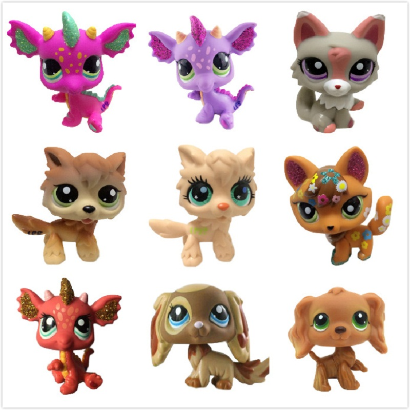 2019 Shop Lps Toy Standing Short Hair Cat Figure Original Kitten Husky Puppy Dog Littlest Animal Collection Free Shipping