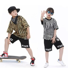 Unisex Kids Hip Hop Dance Wear Jazz Sequins Outfits Stage Performance Age 4-12 Years