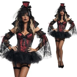 Halloween Costumes Bar Role Playing Clothing Evil Zombie Vampire Clothes,free  Shipping