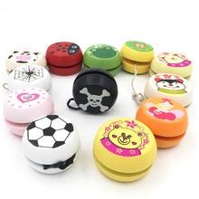 Дети йо-йо мяч милые животные принты деревянные игрушки йойо Божья коровка игрушки Дети йо-йо творческие йо-йо игрушки для детей G0149