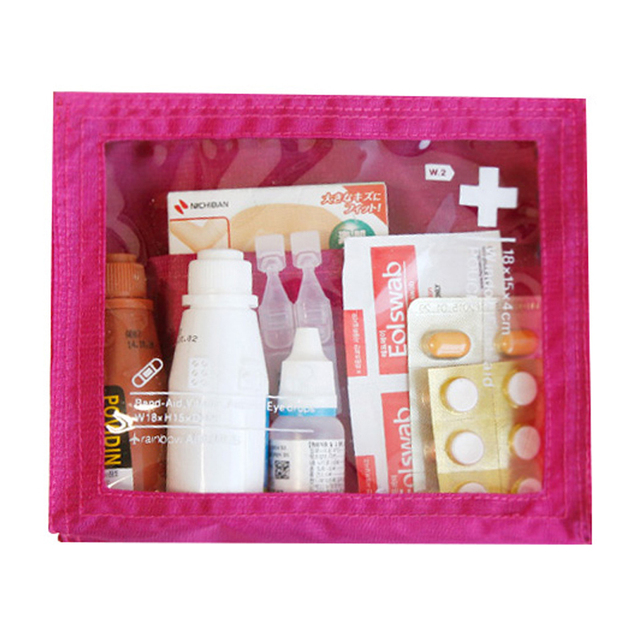Portable Travel Medicine Bag Waterproof Oxford Fabric And Transpa Pvc Medical Kit
