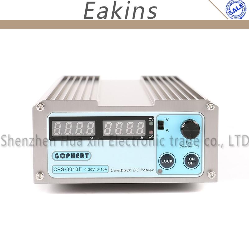 CPS-3010II Upgraded Version 30V 10A OVP/OCP/OTP High Power Compact Adjustable Digital DC Power Supply 110V/220V