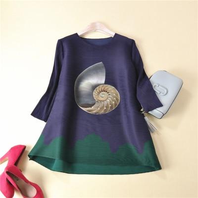 Falten Kostenloser Auf Lose Viertel Versand T Mode Frauen shirt Drei Lager Miyake NPXnw80Ok