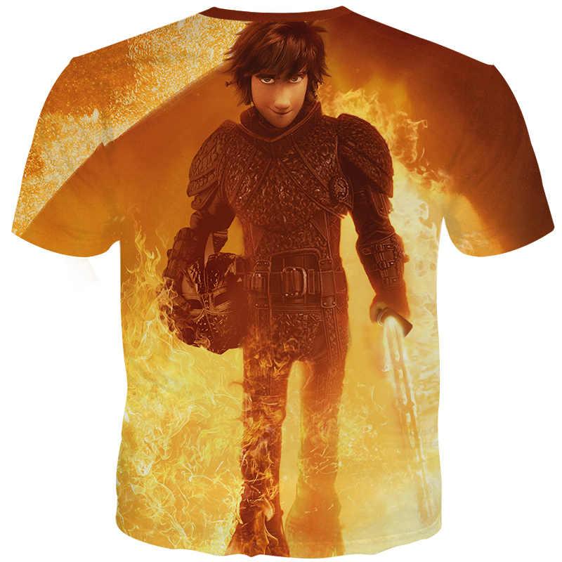 YOUTHUP Мужская футболка с 3D принтом Беззубик и икота, топ с принтом, футболки, крутая модная мужская футболка, уникальный дизайн, футболка, мужские 3d футболки