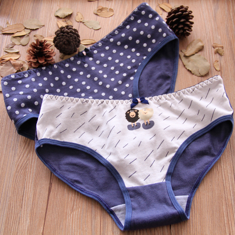 Buy girls underwear 5pc/lot goat cotton candy low waist briefs young girl panties Teenagers 5 style lovely intimate 2019