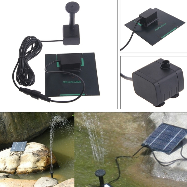 Solar Powered Panel Brushless DC Water Pump Kit For Garden Fountain Pond Pool Water Circulation For Oxygen Aquatic Pet Supplies