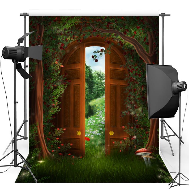 Vinyl Photography backdrop Fairy Tale Forest Door New Fabric Flannel Photographic Background For Photo studio Props F1636 photo background 5x7ft fairy tale mushroom house photography backdrop studio props for children