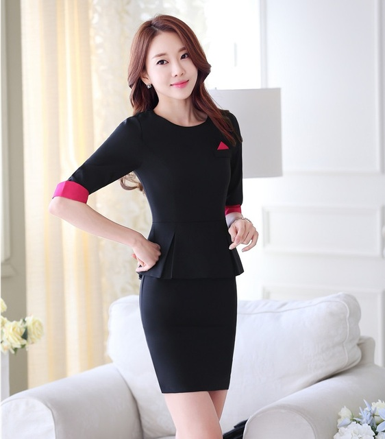 Formal OL Styles Professional Spring Summer Skirt Suits With Blazer and Jackets Ladies Beauty Salon Office Uniforms Outfits