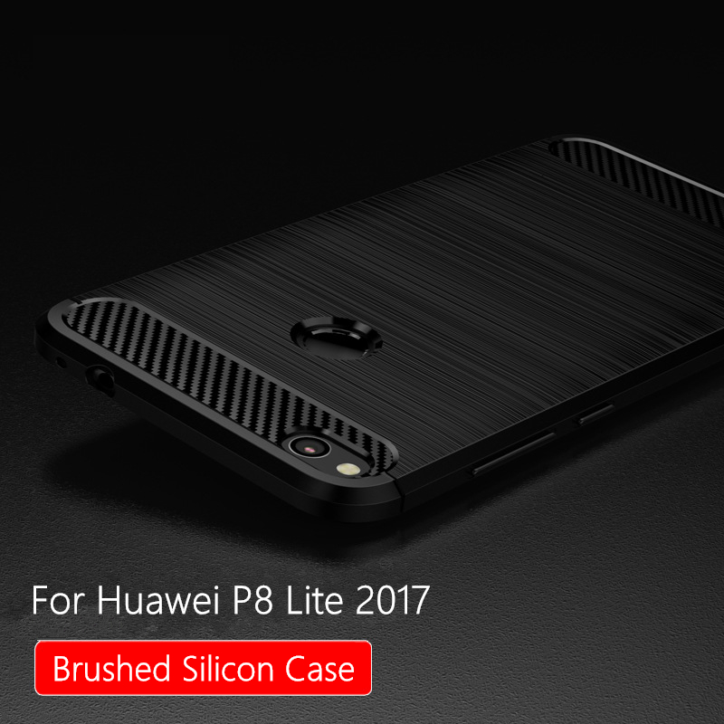 for huawei p8 lite 2017 case silicon brused for huawei honor 8 lite case cover tpu soft back p8. Black Bedroom Furniture Sets. Home Design Ideas