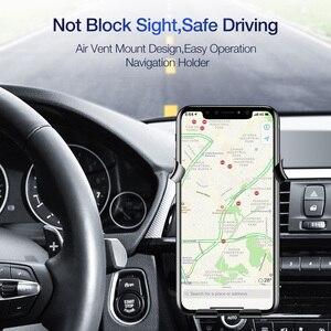 Image 2 - FLOVEME Soporte de teléfono para coche Gravity, soporte de teléfono móvil para coche, para iPhone X 7, compatible con Smartphone, Voiture