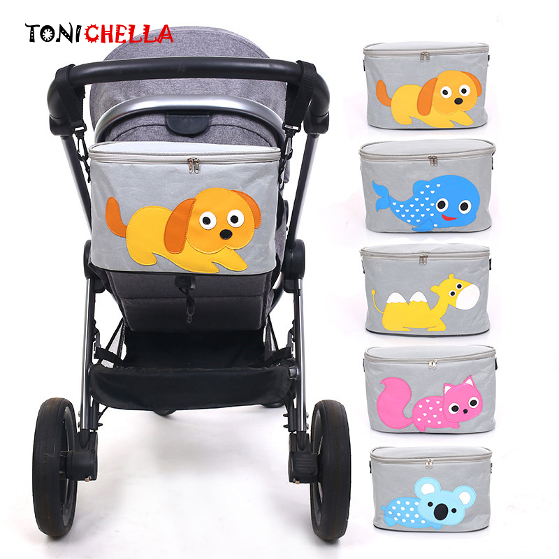 Baby Stroller Bag Cute Carriage Pram Hanging Basket Infant Storage Organizer Diaper Mummy Nappy Travel Feeding Bottle Bag CL5344Baby Stroller Bag Cute Carriage Pram Hanging Basket Infant Storage Organizer Diaper Mummy Nappy Travel Feeding Bottle Bag CL5344
