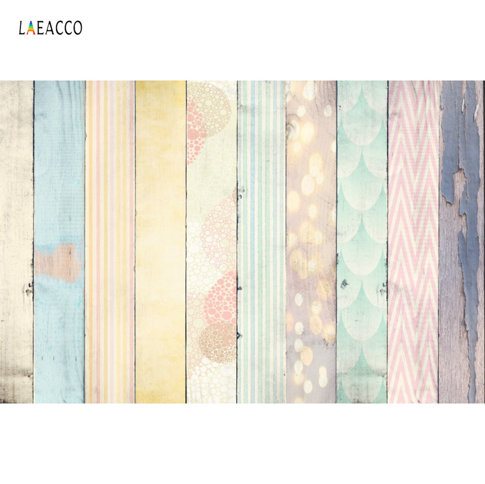 Vinyl Wood Backgrounds For Photography Colorful Hardwood Planks Baby Pet Doll Food Portrait Party Photo Backdrop For Photo Shoot