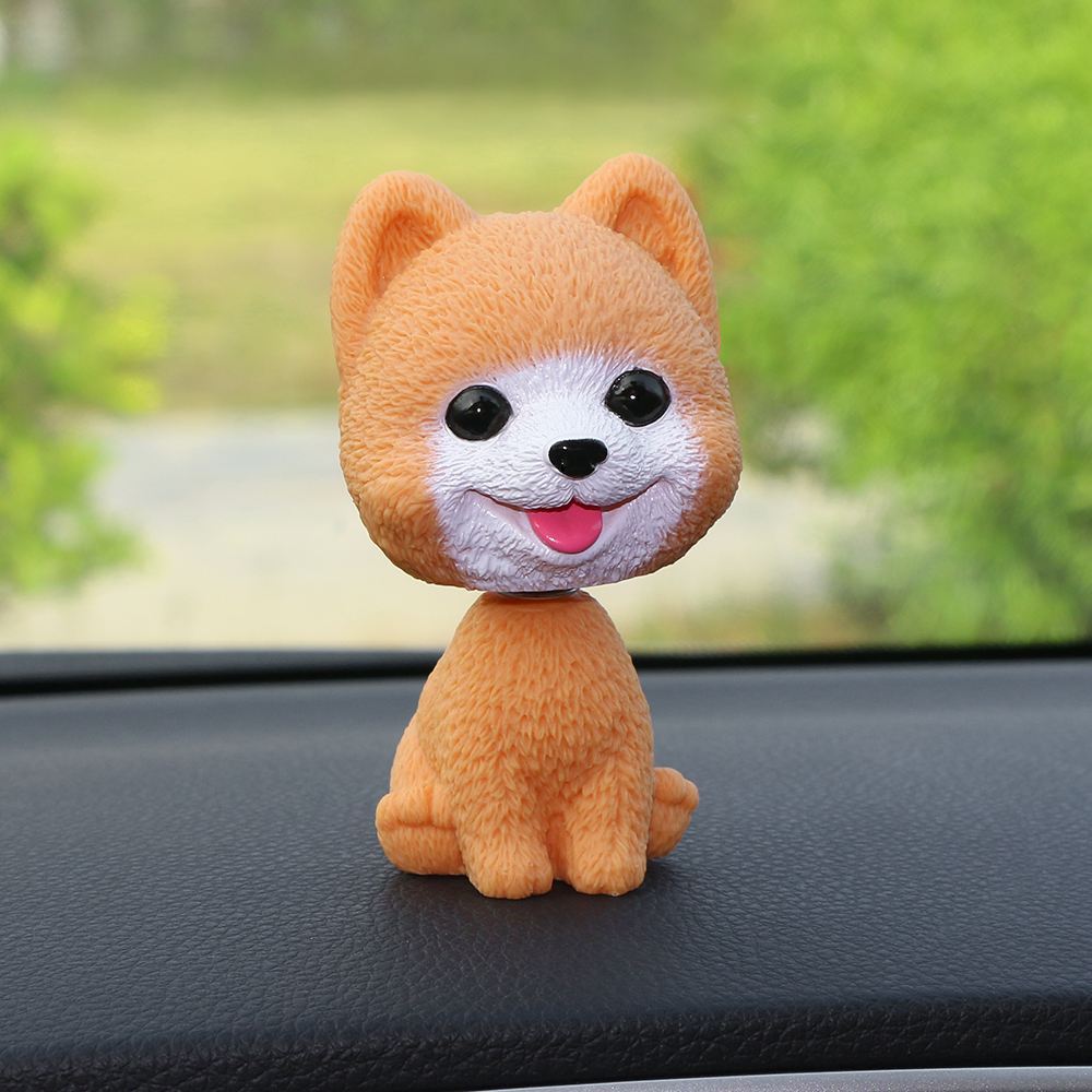 Car Ornament PVC Cute Shaking Head Dog Automobiles Interior Dashboard Swing Nodding Puppy Doll Decoration Ornaments Toys Gift presidential donald trump doll shaking head toys car oranment toy for kids