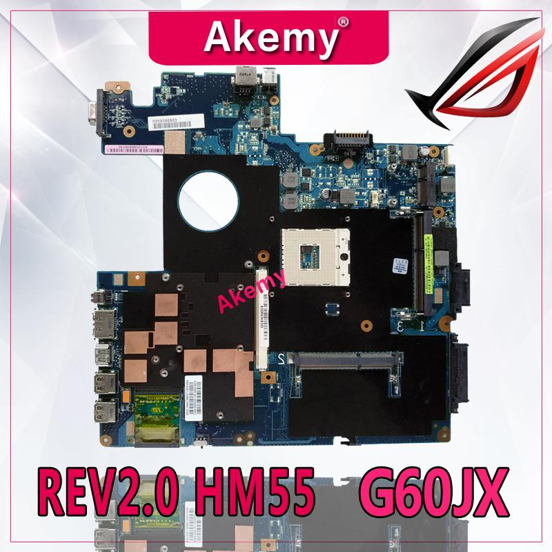 Akemy High quality For Asus G60J Laptop motherboard G60JX REV2.0 PAG 989 HM55 DDR3 100% TestedAkemy High quality For Asus G60J Laptop motherboard G60JX REV2.0 PAG 989 HM55 DDR3 100% Tested