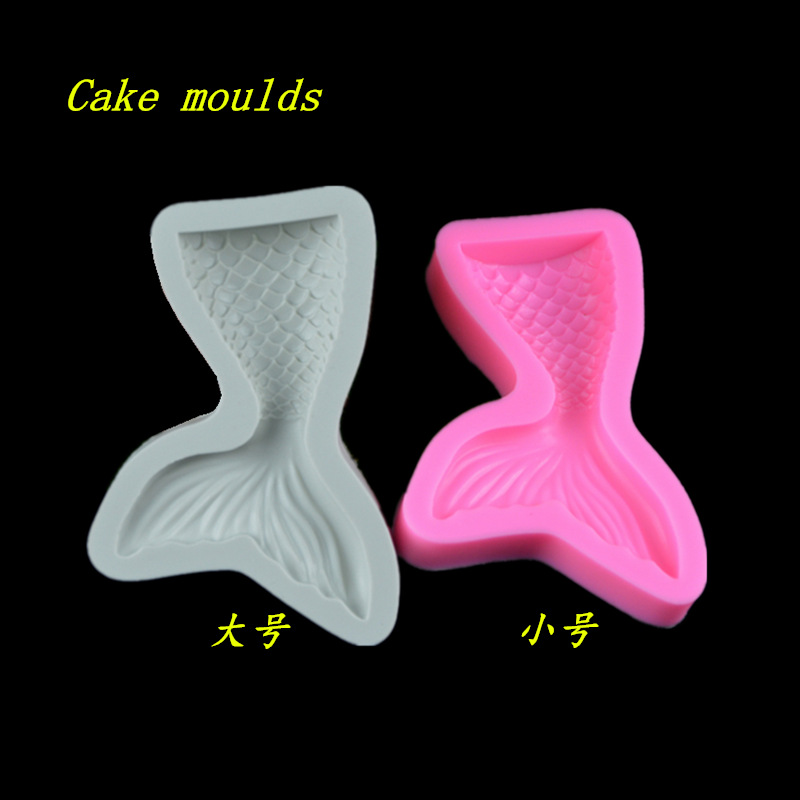 New arrival Mermaid tail shape silicone mold fondant cake chocolate mold decoration tools bakeware