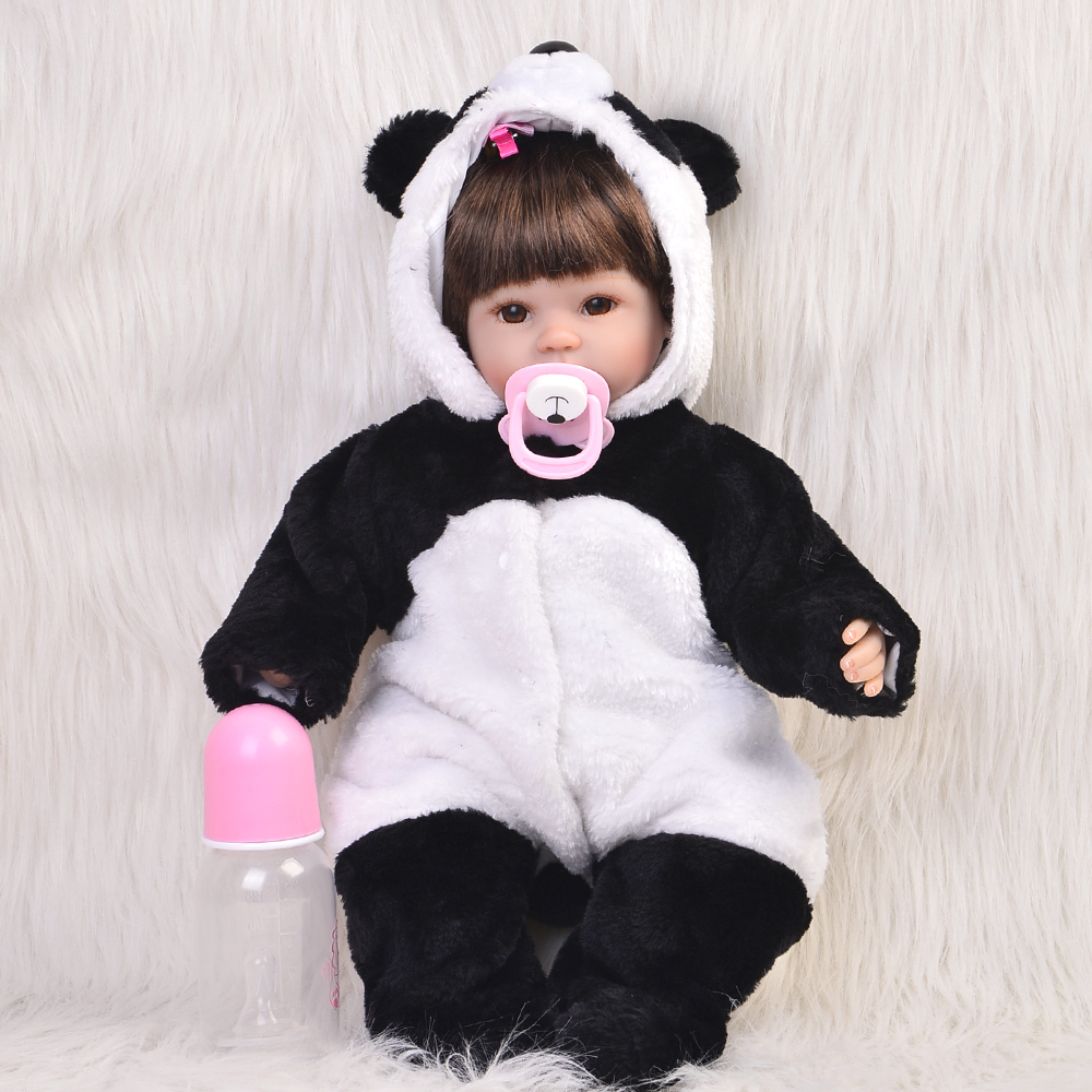Popular 17 inch reborn babies doll lifelike soft silicone newborn baby dolls real touch gift for children birthday free shipping hot sale real silicon baby dolls 55cm 22inch npk brand lifelike lovely reborn dolls babies toys for children gift