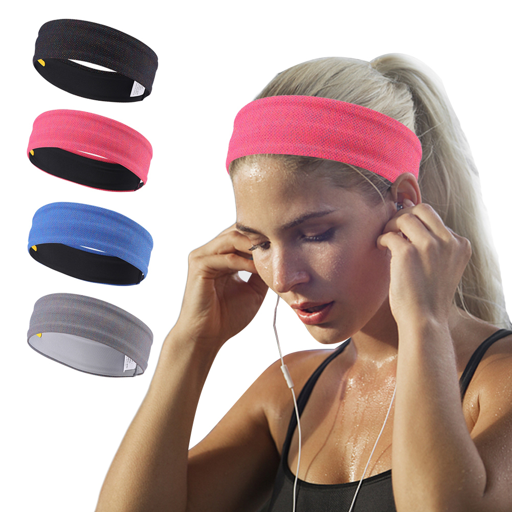 Wide Non Slip Design Sweatband Headband Hair Elastic Running Fitness Sports Yoga Stretch Head Soft Band Hair Gym for Women Men