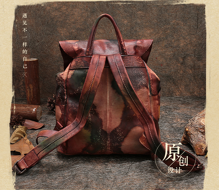 Cheap leather women backpack