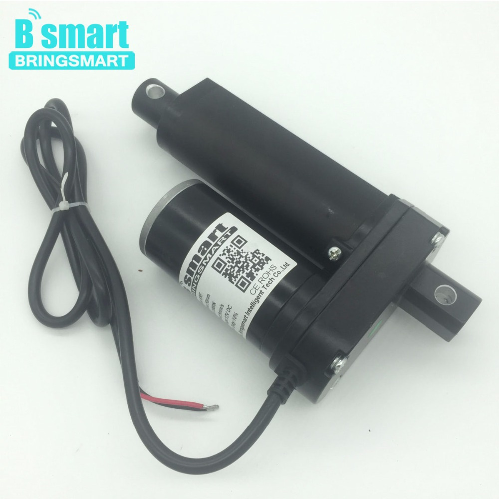 Bringsmart SRF Stroke Length 2 Inch (50mm) 12V 24V 48V Dc Linear Actuator Motor 500-3500N 3-30mm/s For Electric Window Actuator цена и фото
