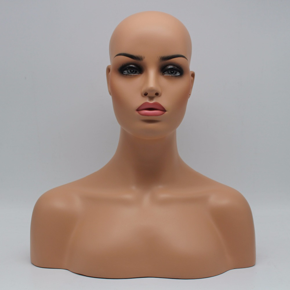 Female Realistic Fiberglass Mannequin Head Bust Sale For Wig Jewelry And Hat Display