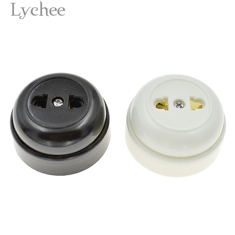 Lychee Retro Toggle Switch Socket Round Inverted Switch Bedside On/Off Lamp Socket Home Improvement